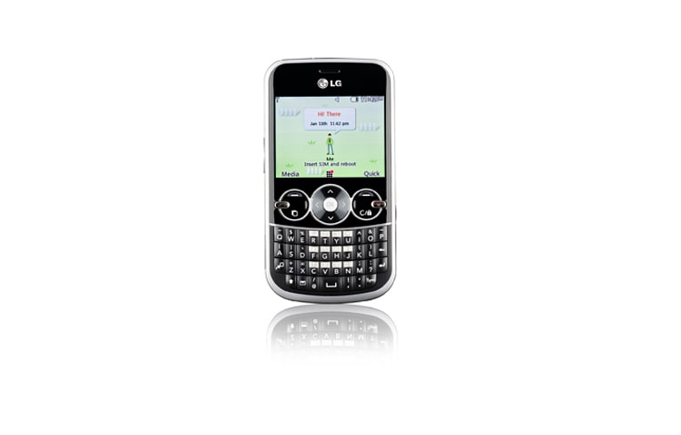 LG Cell Phones Gossip | Full Qwerty Keypad and 2.4 inch screen, threaded SMS, MP3, Bluetooth, easy photo and video thumbnail 1