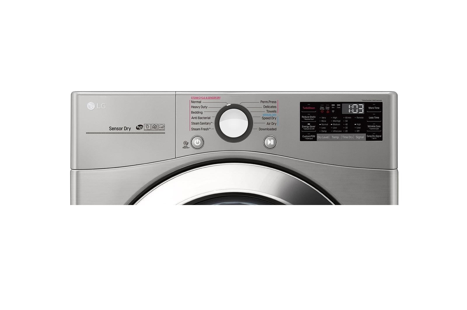 Lg Dlex3700v 7 4 Cu Ft Ultra Large Capacity Steamdryer