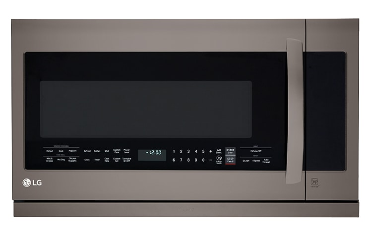 Lg Black Stainless Steel Series 2 Cu Ft Over The Range Microwave With 2nd Generation Slide Out Extendavent