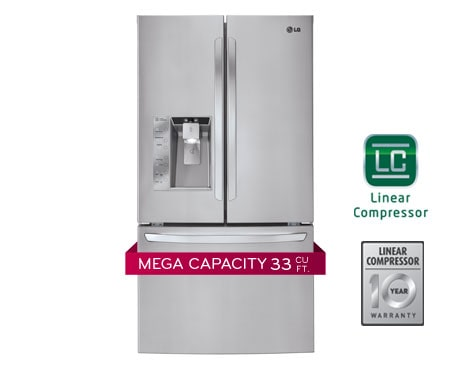 Lg 33 Inch 24 Cu Ft French Door With Smart Lg 29 Lg