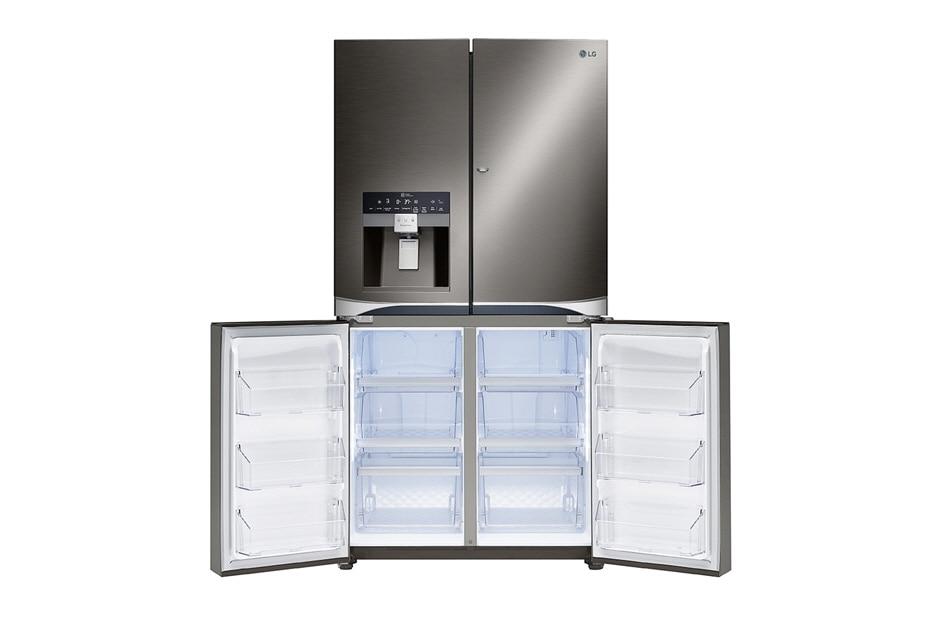 lg black french door refrigerator. 4-door french door refrigerator freezer open lg black l
