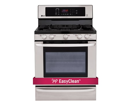 Lg lrg3085 gas range easy clean lg canada - Clean gas range keep looking new ...