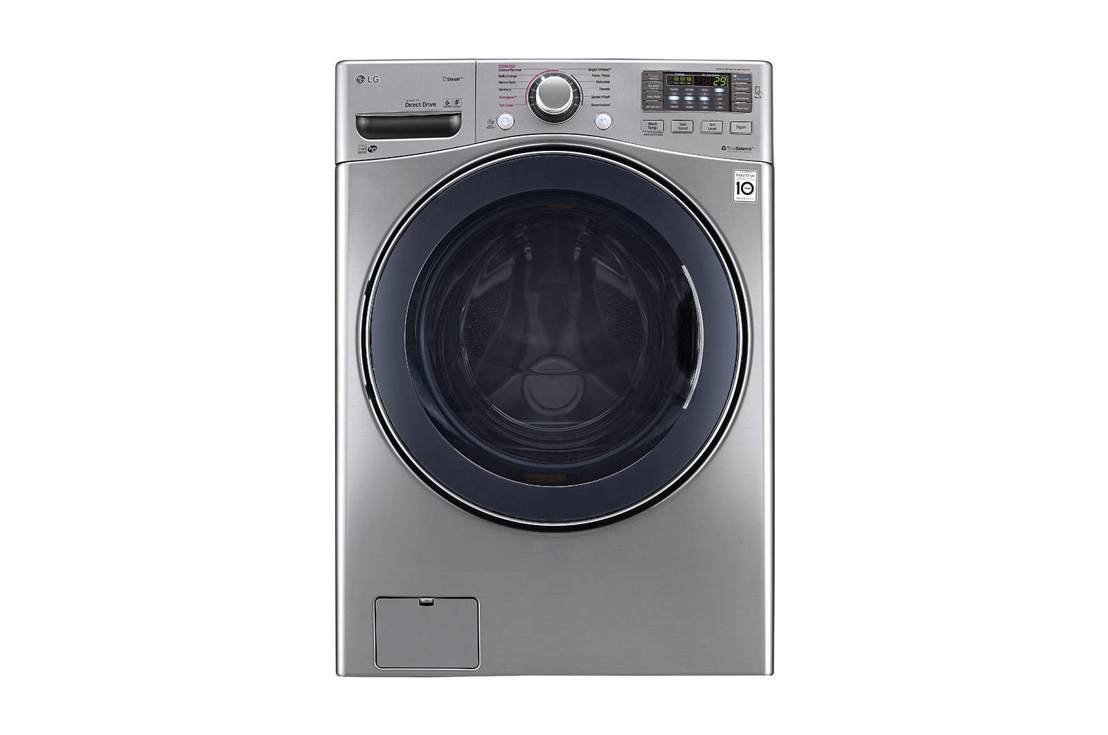 5.2 cu.ft. Ultra Large Capacity Washer with NeveRust™ Stainless Steel Drum
