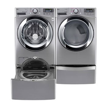 6.3 Total Capacity LG TWINWash™ Bundle with LG SideKick™ and Electric Dryer1