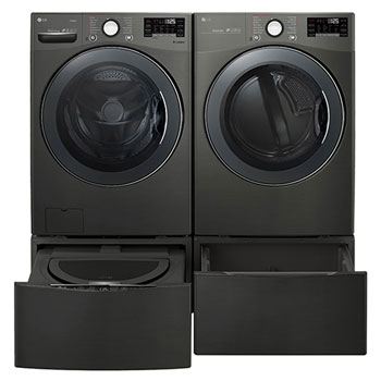 6.3 Total Capacity LG TWINWash™ Bundle with LG Pedestal and Electric Dryer1