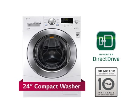 capacity compact size front load washer with 6motion technology