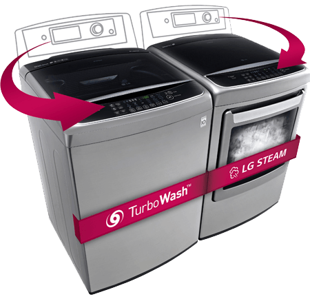 LG Front Control technology for top load washers