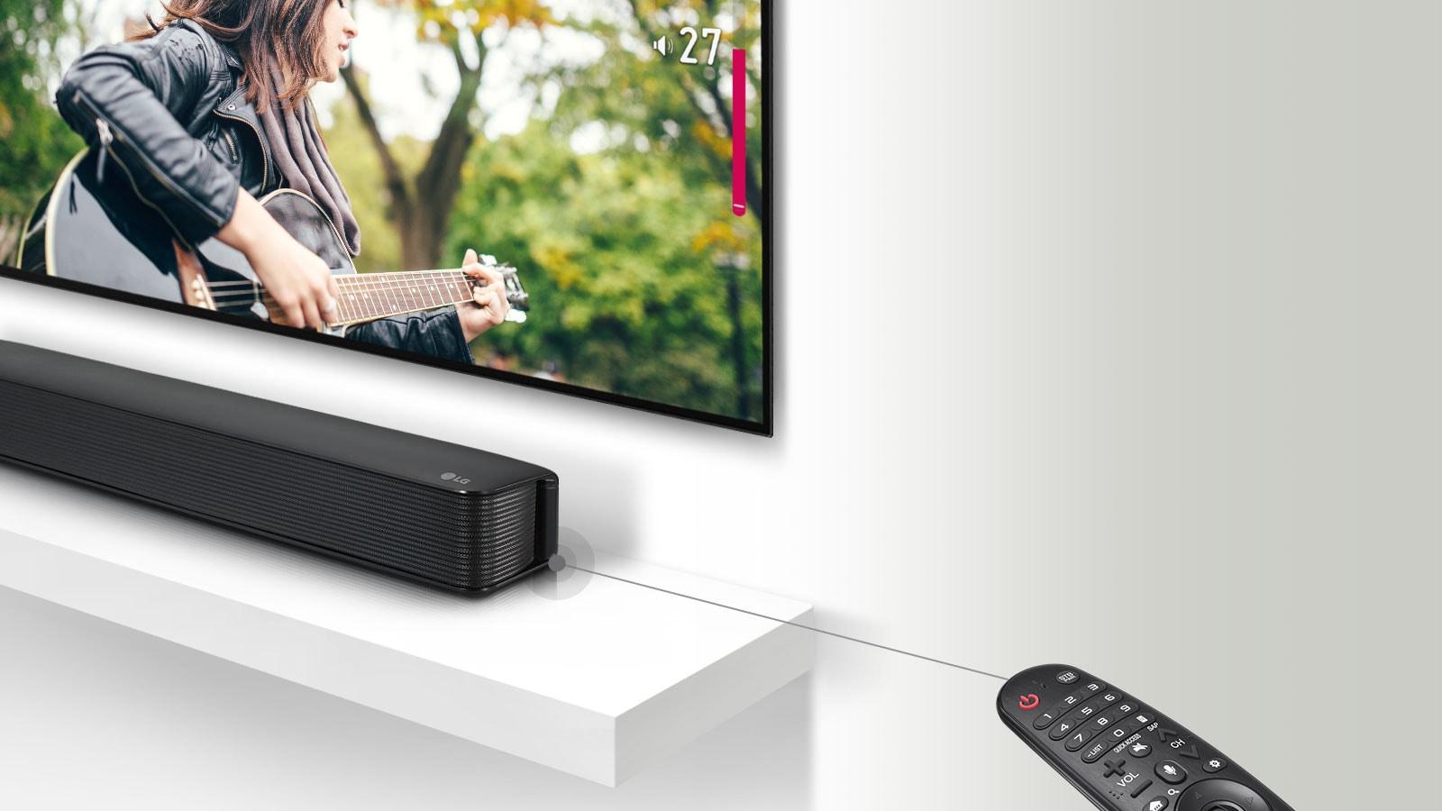 Compatibilité avec la télécommande d'un téléviseur1
