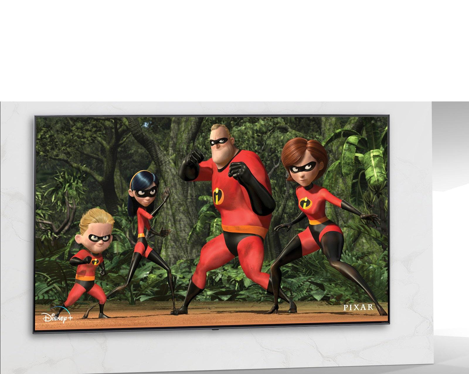 Image de l'affiche Moana de Disney sur l'écran du téléviseur