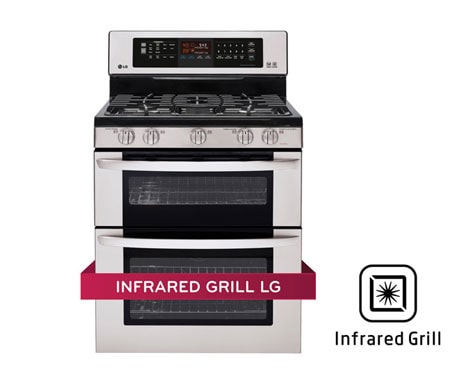 détaillant en ligne 34080 ff01a LG Cuisinière à gaz à four double de 6,1 pi 3 avec Infrared Grill   LG  Canada