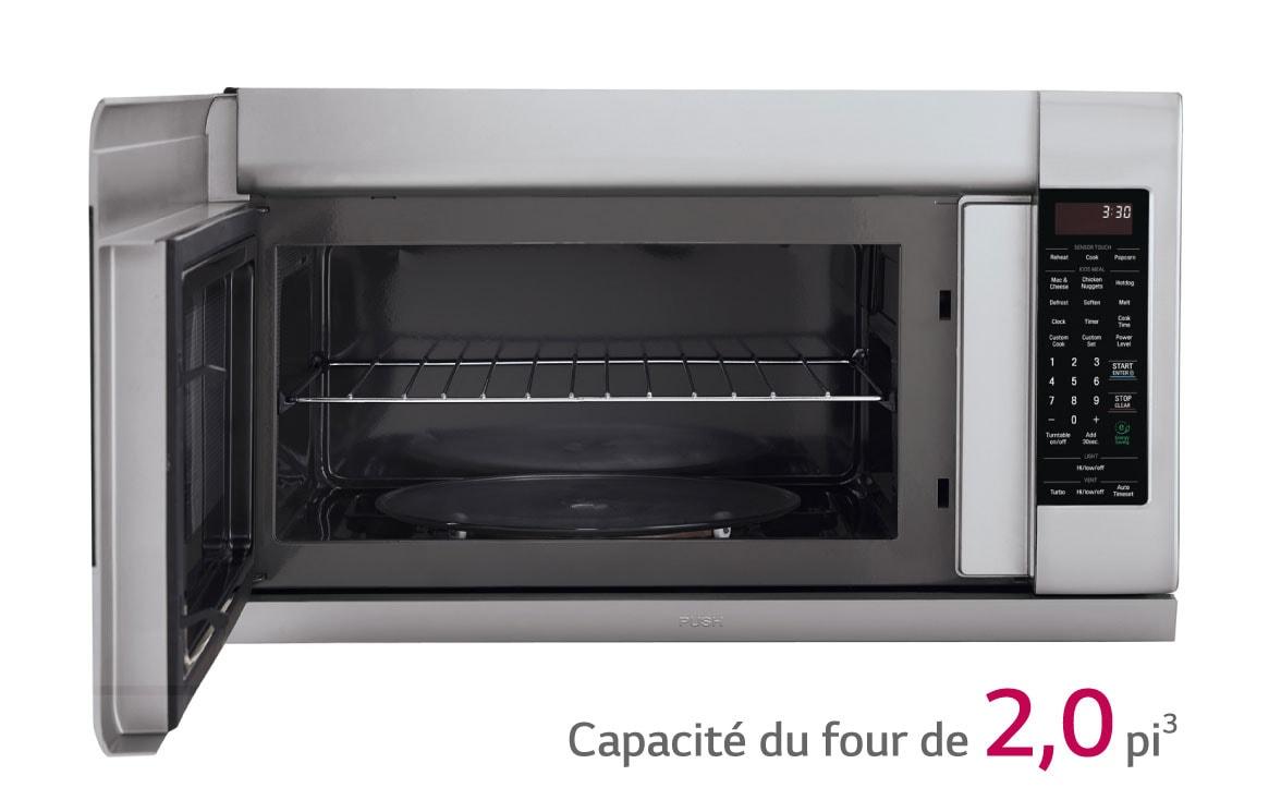 ... Design Four A Porte Coulissante : LG Micro-ondes Fours-hottes  LMV2055ST: Le ...