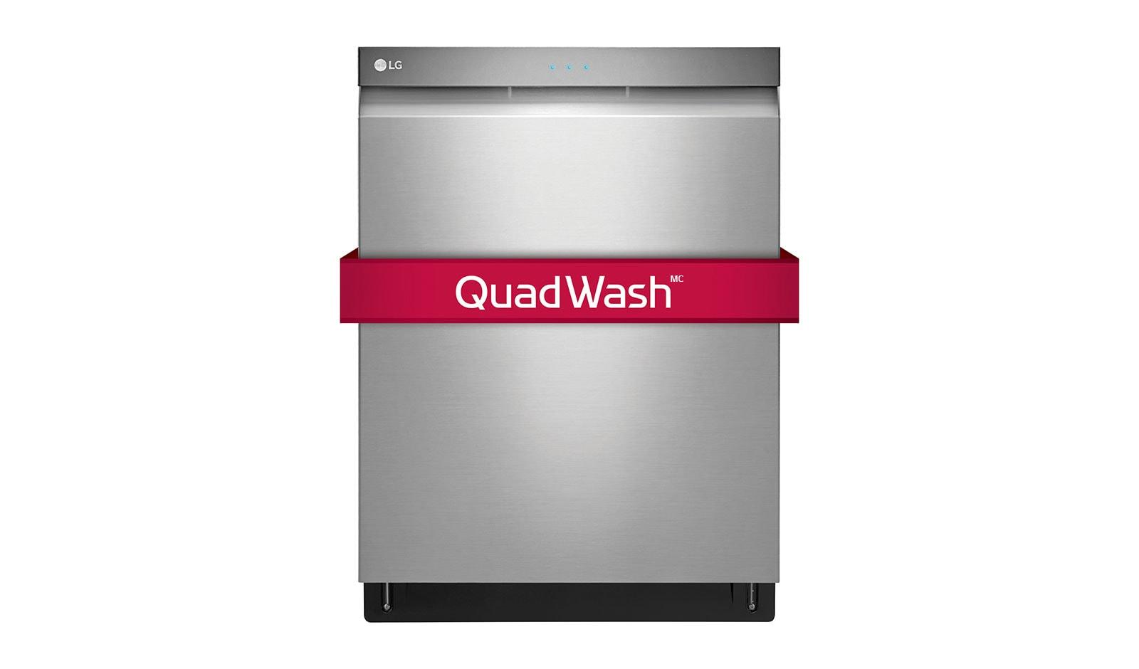 Quel Est Le Temps De Lavage D Un Lave Vaisselle lg lave-vaisselle à commande frontale avec quadwash<sup>mc