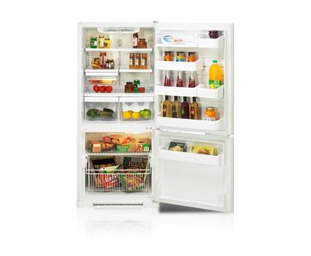 Lg lbn20517ww r frig ration r frig rateur cong lateur - Refrigerateur porte avec congelateur ...