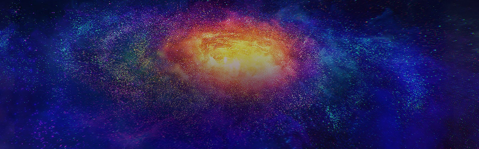 Des millions de petites particules colorées dans l'espace.