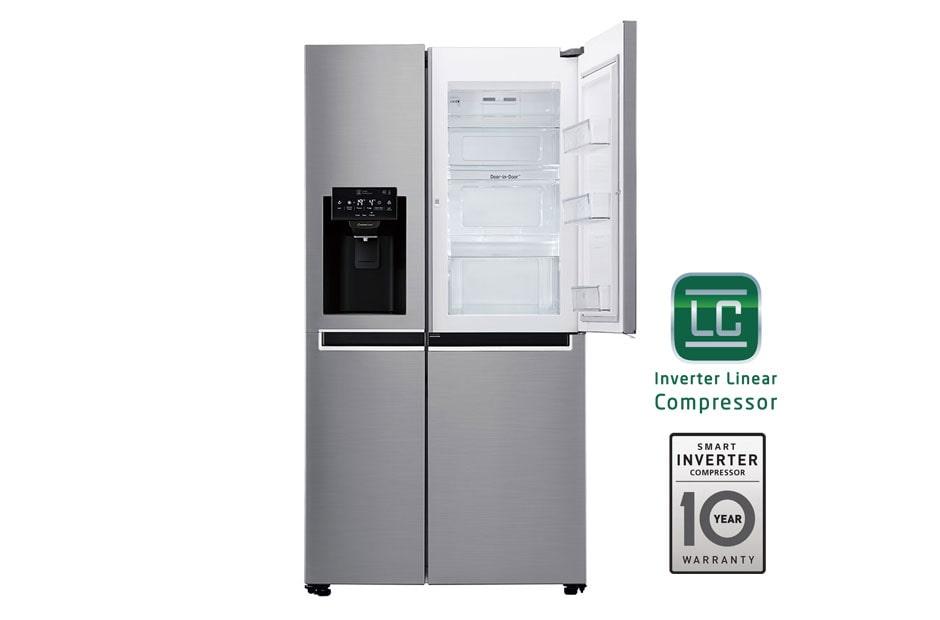 Refrigeradora Inverter Door In Door Cromada Lg Gs65sdp1