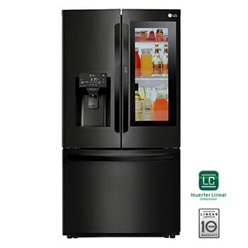 28 pᶟ |InstaView™ Door-in-Door®|French Door|Hygiene Fresh⁺ |Compresor linear inverter |Negro Mate |ThinQ™ 1