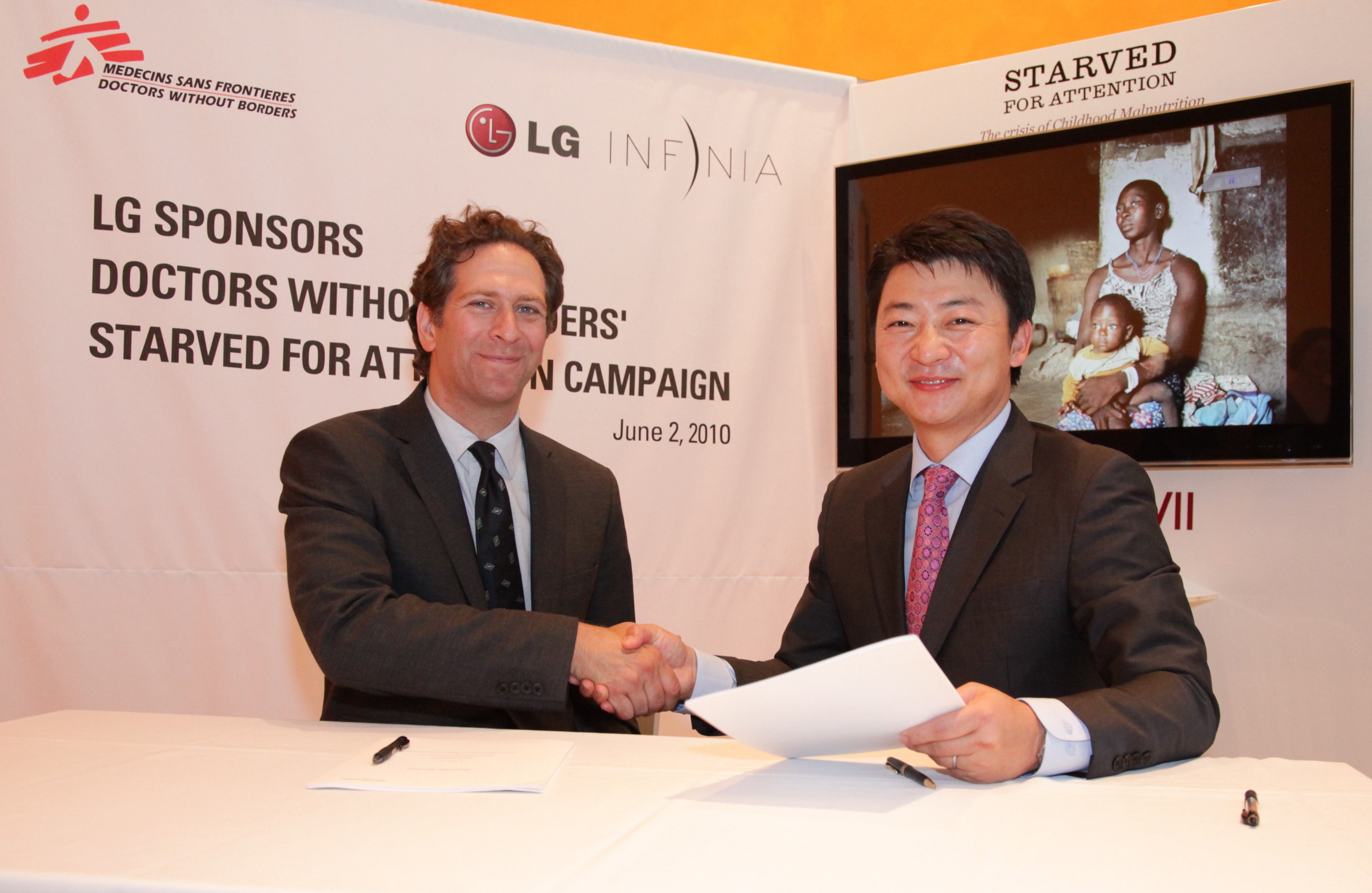 LG To Support Doctors Without Borders Campaign Fight Malnutrition