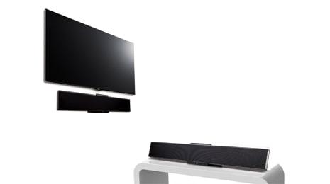 lg nb3530a 2 1 soundbar mit wireless subwoofer 300 watt usb schwarz. Black Bedroom Furniture Sets. Home Design Ideas