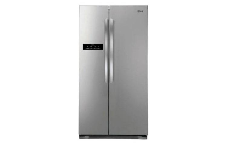 Amerikanischer Kühlschrank Von Lg : Lg gsb pvqv side by side kühlgerät mit energieeffizienzklasse a
