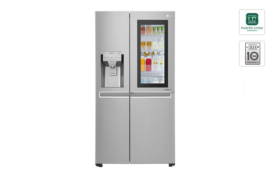 Side By Side Kühlschrank Ohne Eiswürfelspender Test : Lg instaview door in door™ lg schweiz