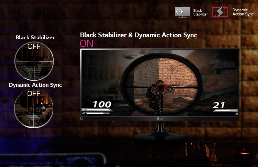 Estabilizador de negros para mayor visibilidad