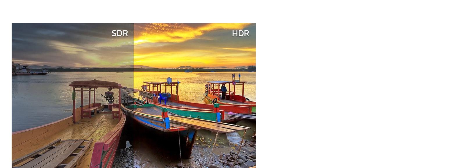 SDR versus HDR10.
