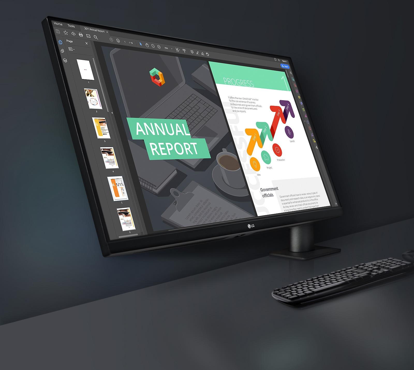 LG QHD Monitor Ergo: Diseñado cerca de ti