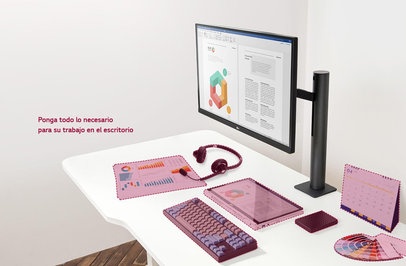 Ponga todo lo necesario para su trabajo en el escritorio