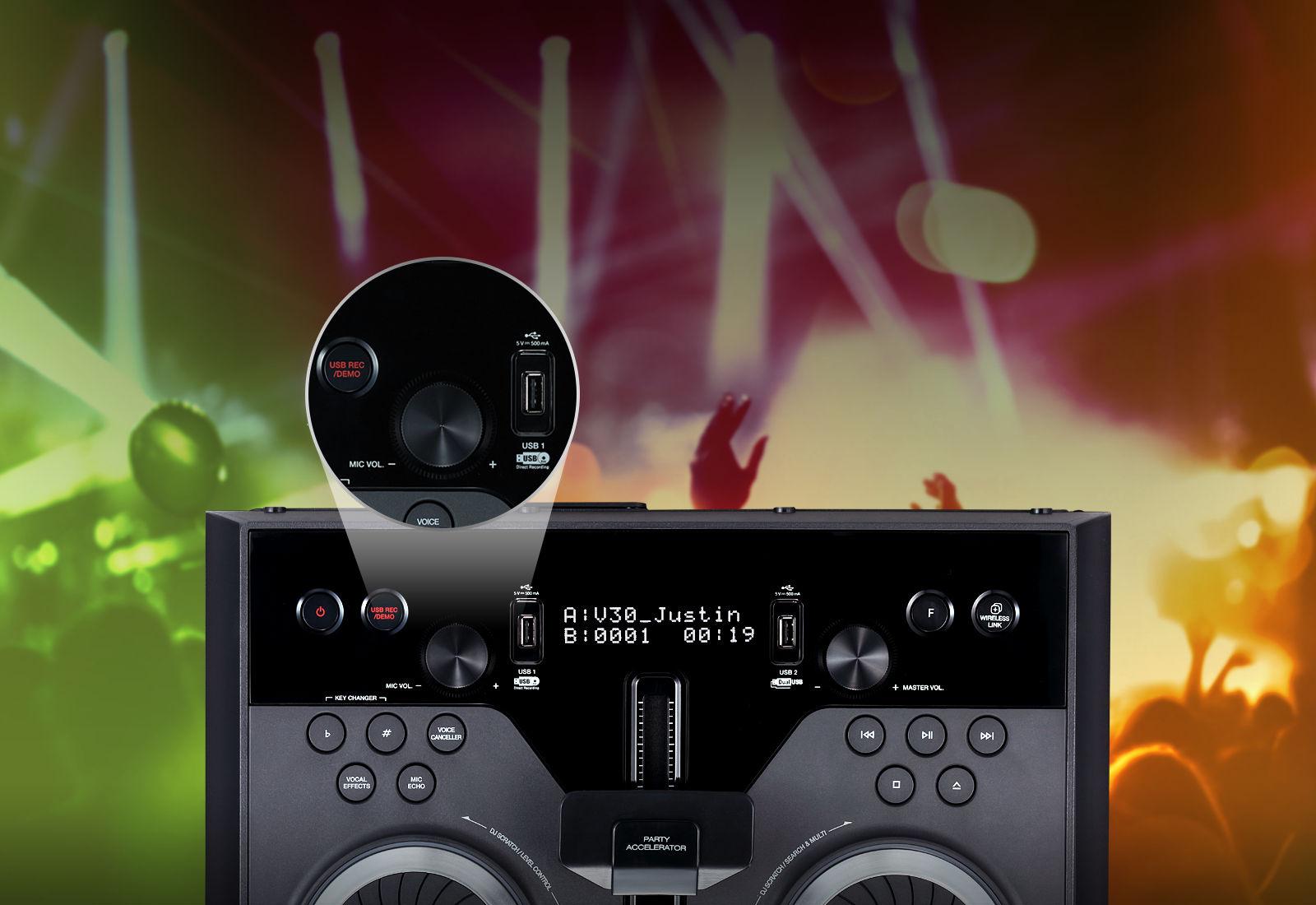 Doble USB con DJ Sharing<br>1