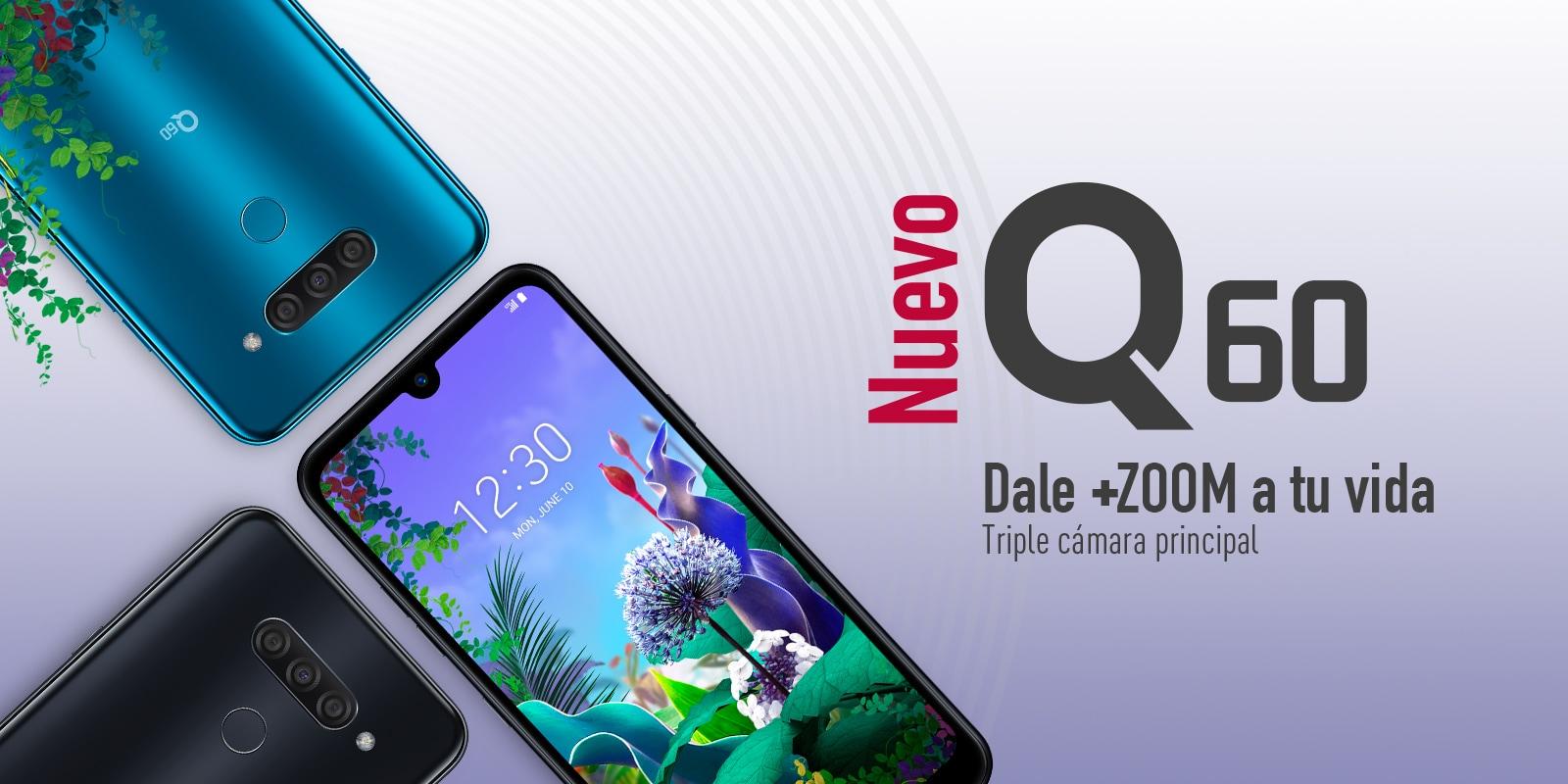 e7f01f80765 Nuevo celular LG Q60 con triple cámara e inteligencia artificial