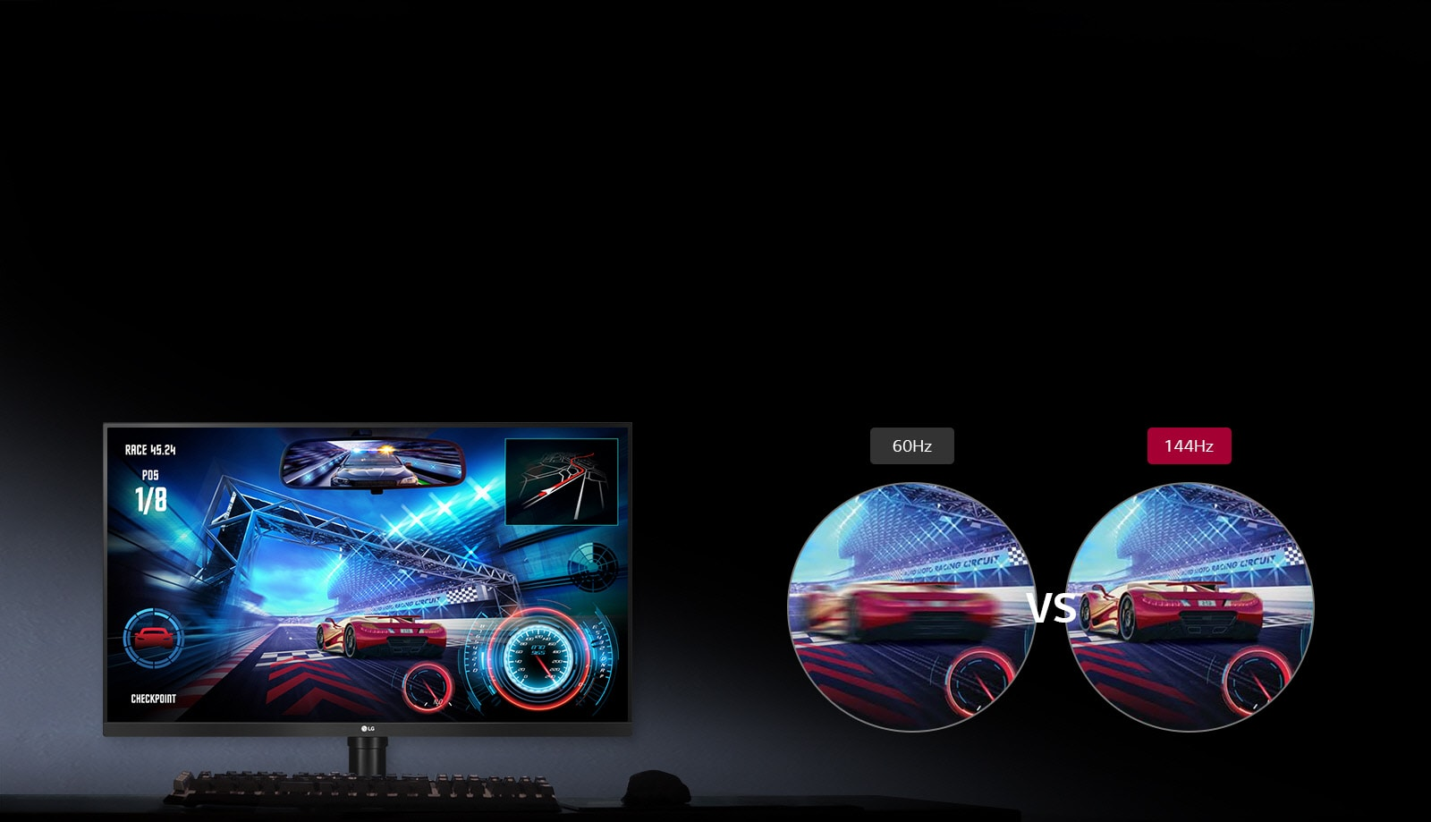 Frecuencia de actualización de 144 Hz1