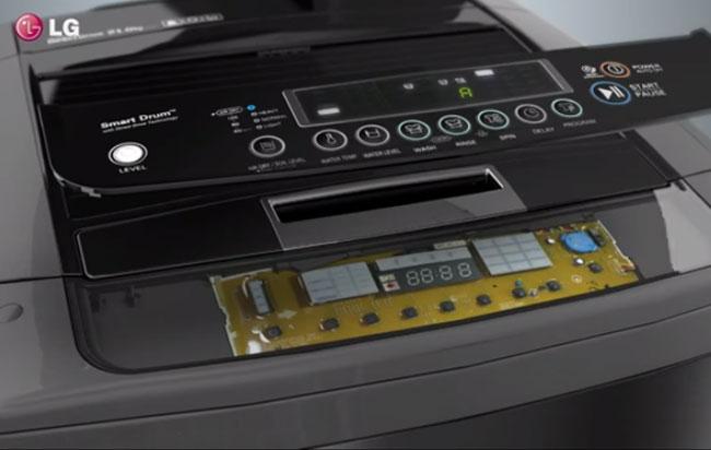 Conoce el panel de control de la lavadora LG
