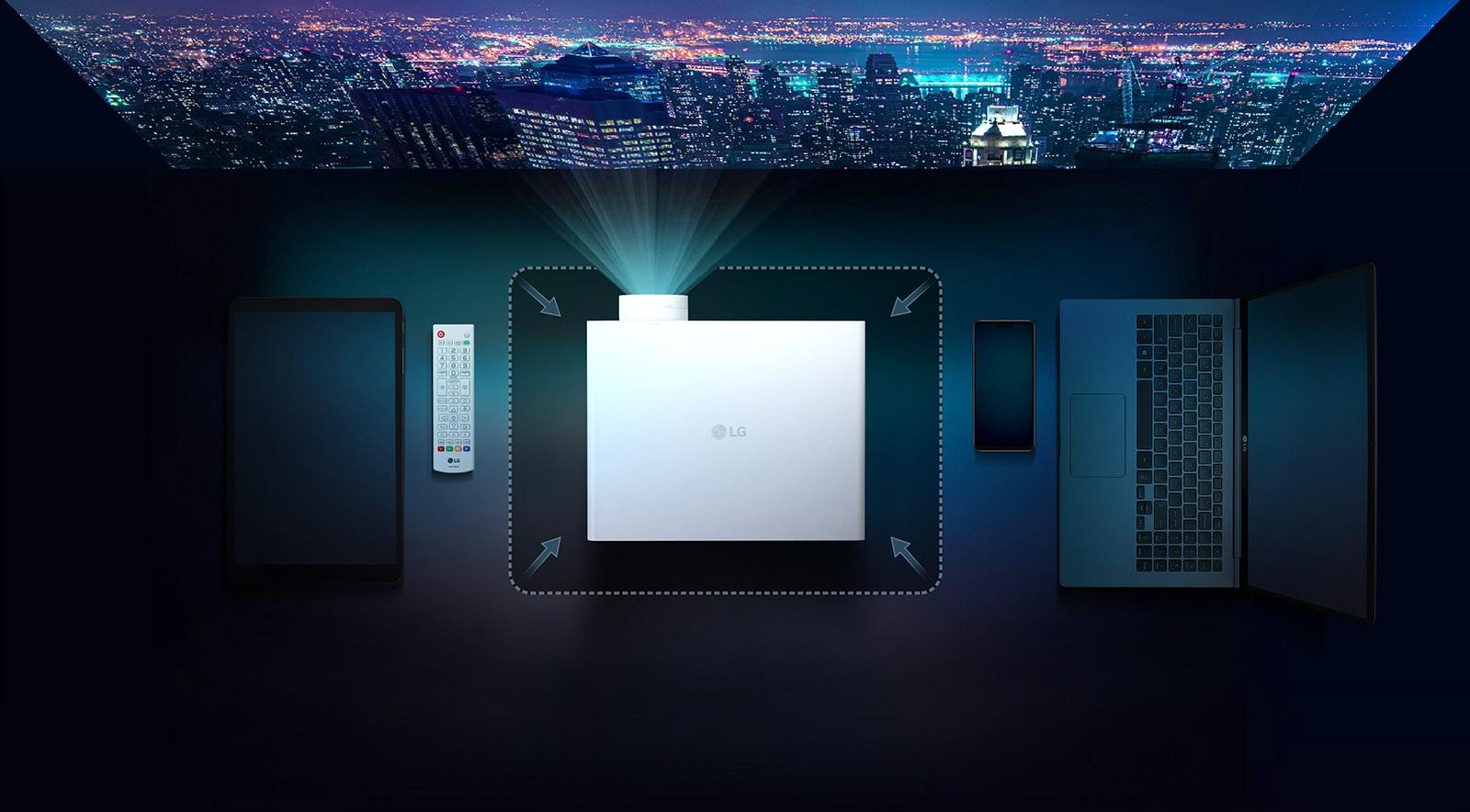 El proyector más pequeño de 4K de 5,000 ANSI: Tamaño perfectamente compacto