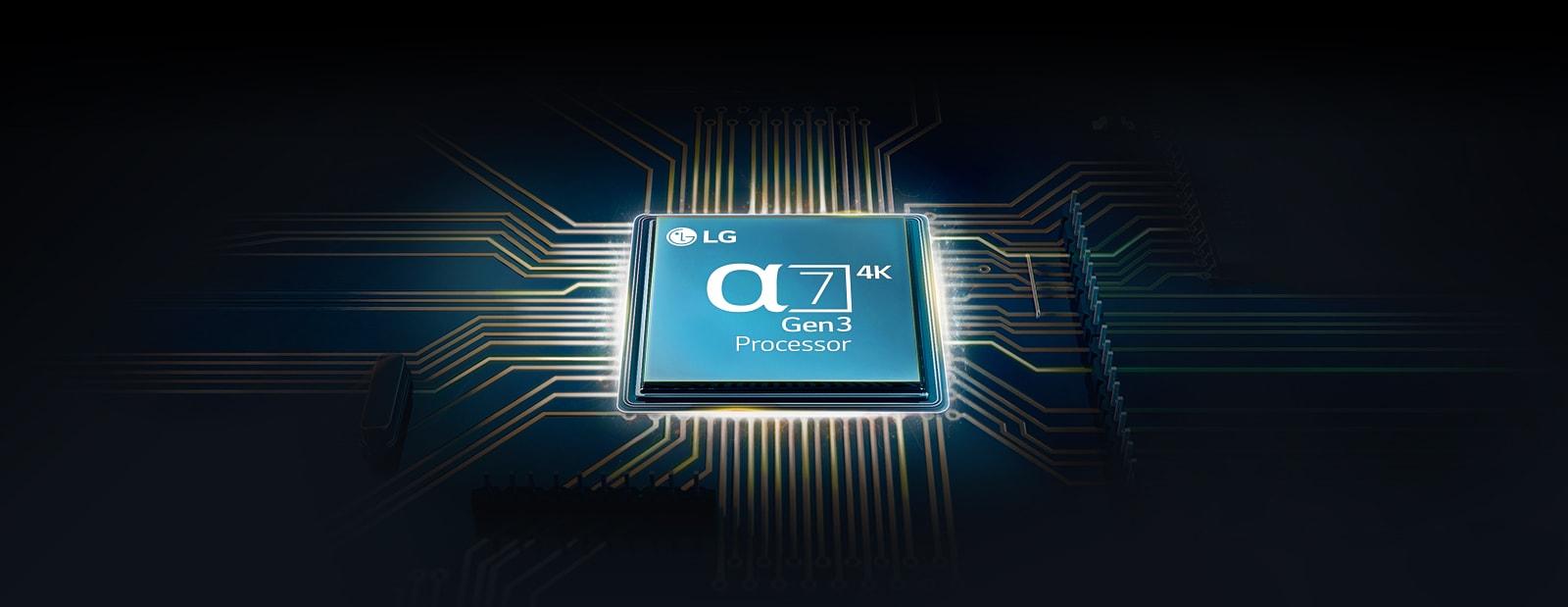Na základní desce televizoru je čip Alpha 7.