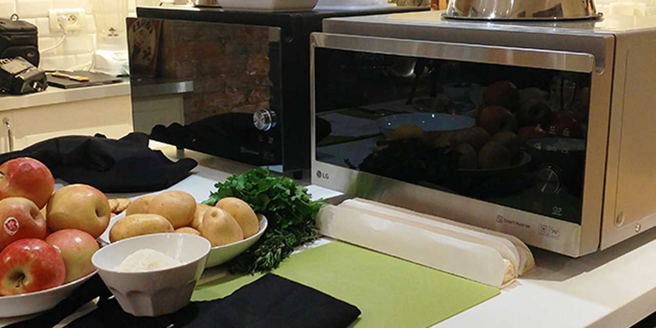 A image of LG NeoChef microwave in the kitchen