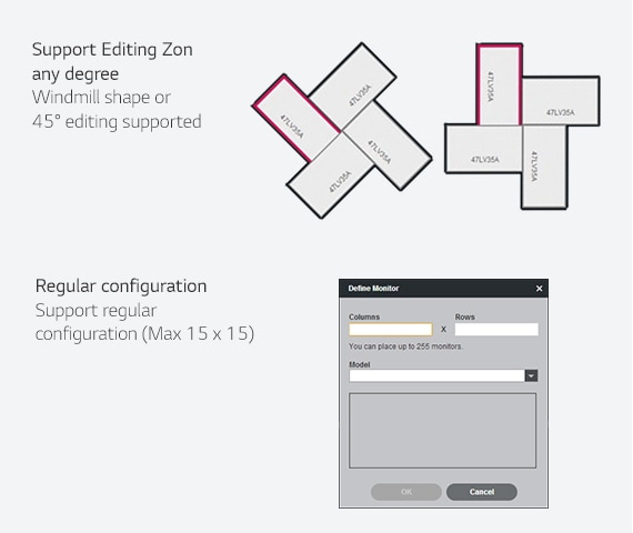 Example how to extended more layout in the SuperSign media editor