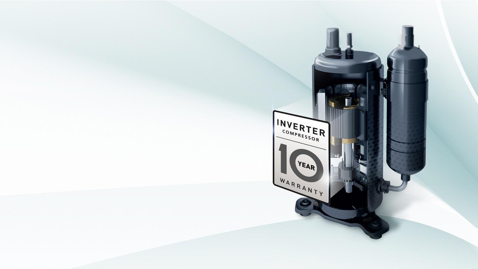 Inverter Kompressor mit 10 Jahren Garantie