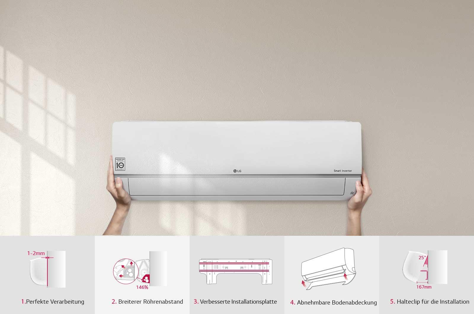 lg smart inverter klima splitger t 6 6 kw standard plus. Black Bedroom Furniture Sets. Home Design Ideas