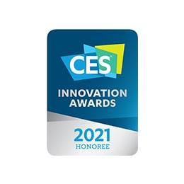 Logotip, ki pomeni nagrado v kategoriji Video zasloni ob podelitvi nagrad CES 2021 Innovation Awards, s katero je bil počaščen model LG OLED 83 C1.