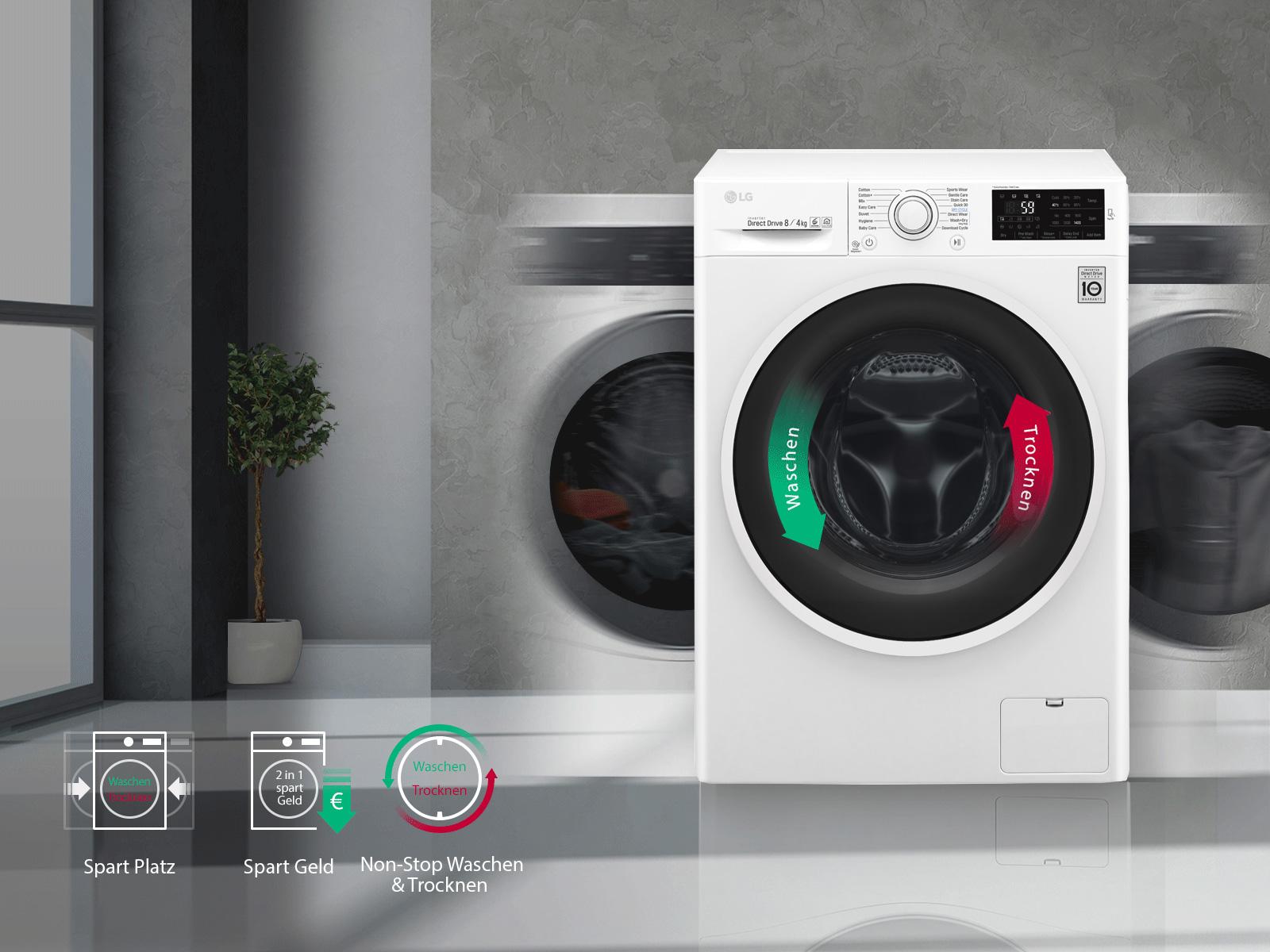 Waschtrockner Nonstop : Lg waschtrockner mit nfc und motion directdrive™ lg deutschland