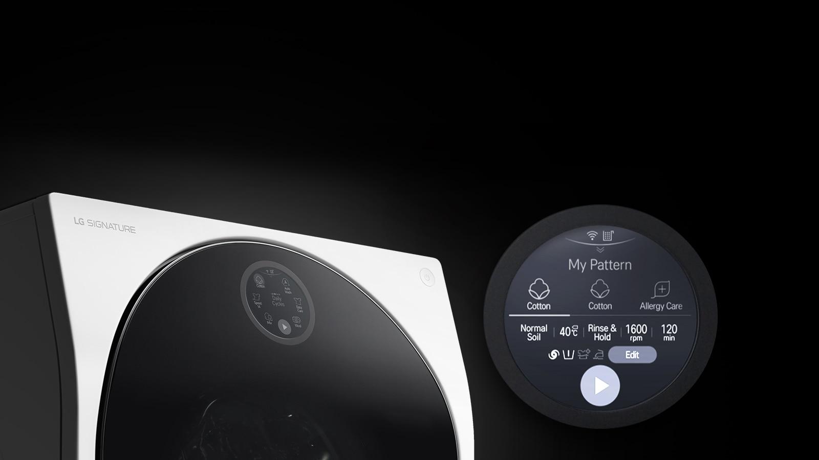 lg signature twinwash waschmaschine lsf100w 12 kg mini waschmaschine lst100 2 kg. Black Bedroom Furniture Sets. Home Design Ideas