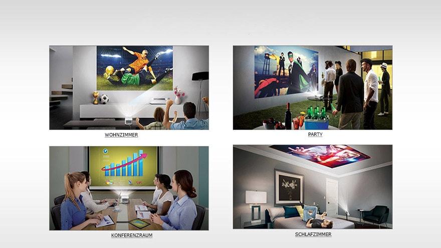 lg heimkino led projektor mit full hd aufl sung. Black Bedroom Furniture Sets. Home Design Ideas