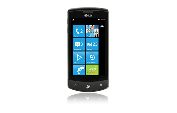 "LG Alle Android Smartphones 9,7 cm (3,8"") Touchscreen Handy mit Windows Phone 7 Betriebssystem und Augmented Reality Kamerafunktion thumbnail 1"