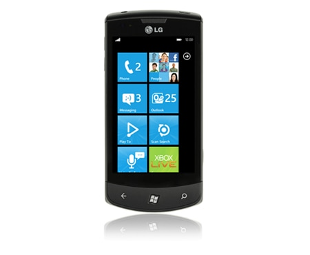 "LG Alle Android Smartphones 9,7 cm (3,8"") Touchscreen Handy mit Windows Phone 7 Betriebssystem und Augmented Reality Kamerafunktion 1"