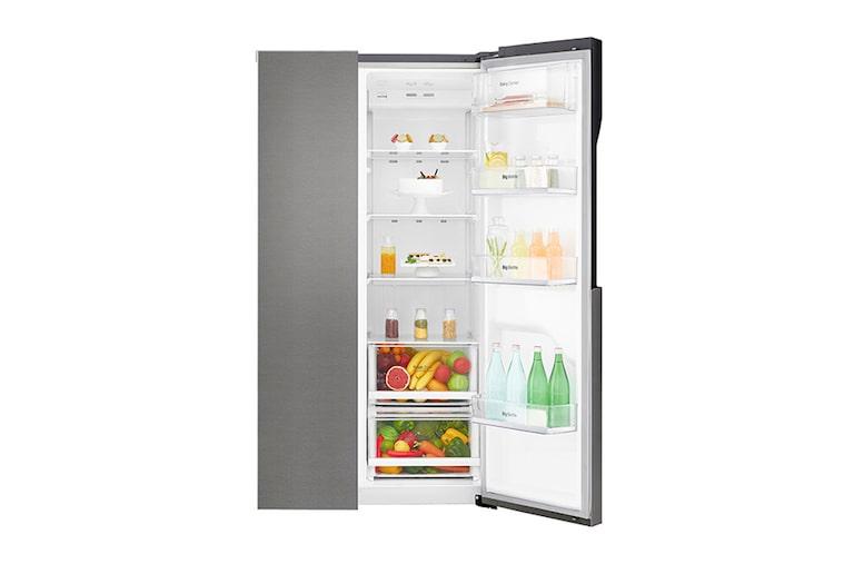 Amerikanischer Kühlschrank Lg : Lg gsb basz side by side kühlschrank a lg deutschland