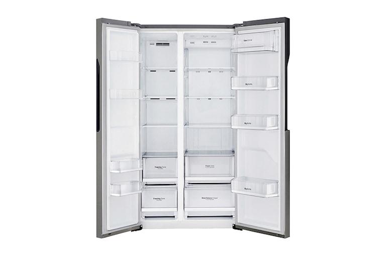Side By Side Kühlschrank Günstig Kaufen : Lg gsb360basz side by side kühlschrank a lg deutschland