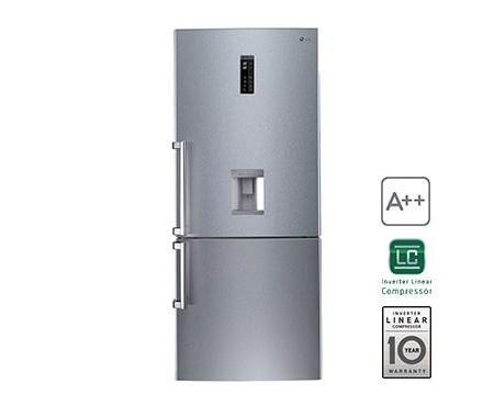 LG GBF548NSDZB Kühl Gefrierkombi mit A und Smart Diagnosis