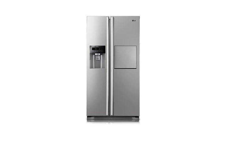 Side By Side Kühlschrank Schwarz : Side by side kühlschrank mit soft touch barfach lg gs pvav