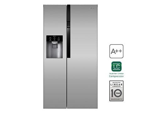 Side By Side Kühlschrank Technische Zeichnung : Lg gs pzyzl side by side kühlschrank a lg deutschland