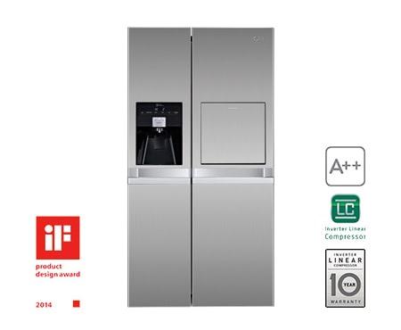 Amerikanischer Kühlschrank Lg : Lg gsp pzqz side by side kühlschrank a lg deutschland